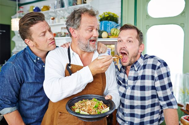 We've got aristocracy visiting the café in this week's Jamie & Jimmy's Friday Night Feast, as Downton Abbey's Hugh Bonneville drops in.