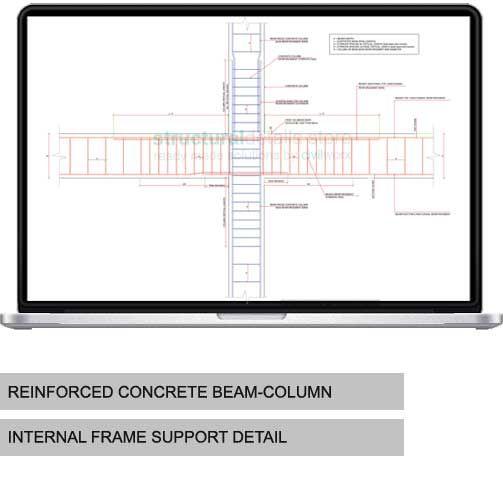Rcc Columns And Beams : Internal column beam frame support detail