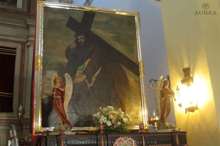 Paso del Cristo del Paño de Moclín con Ángeles colocados