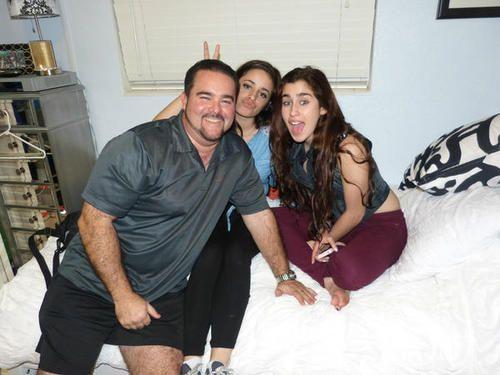 Camren // Camila Cabello with Lauren Jauregui and Lauren's dad