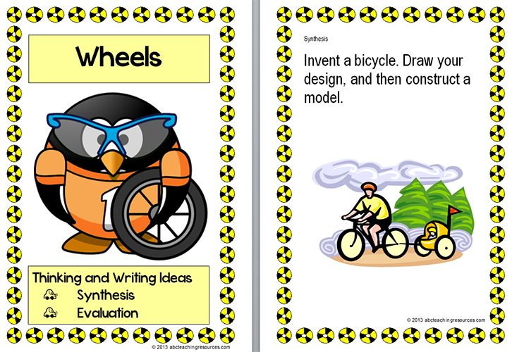WRITING PROMPTS | A colourful resource for Blooms thinking and writing about Transport with a focus on bicycles and cars. The set of six activity cards focus on the student's synthesis and evaluation of bicycles and cars. This resource links with Social Studies and Technology. www.abcteachingresources.com