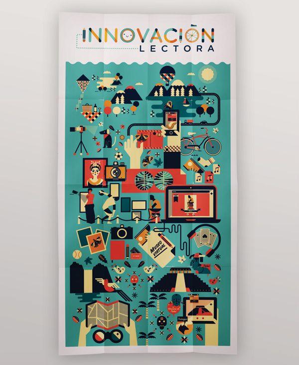 Poster Innovación Lectora Secundaria / Cherry Bomb Design Studio