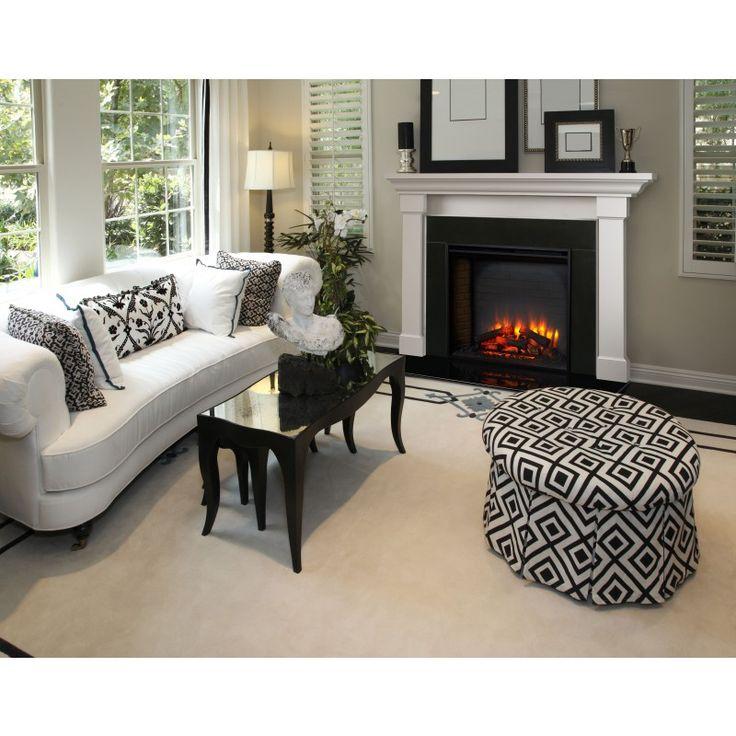 Foyer Electrique Long : Best foyers et manteaux de cheminée images on pinterest