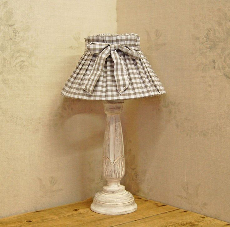 Furniture diy shabby chic fabric lamp shades for corner table lamp painted with white chalk