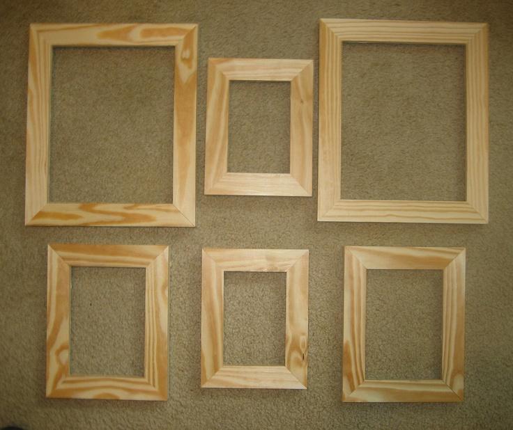 1000 images about frame decor on pinterest scrapbook for Unfinished wood frames for crafts