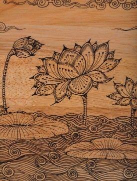 Hand-painted lotus motif - Pattachitra Wall Art
