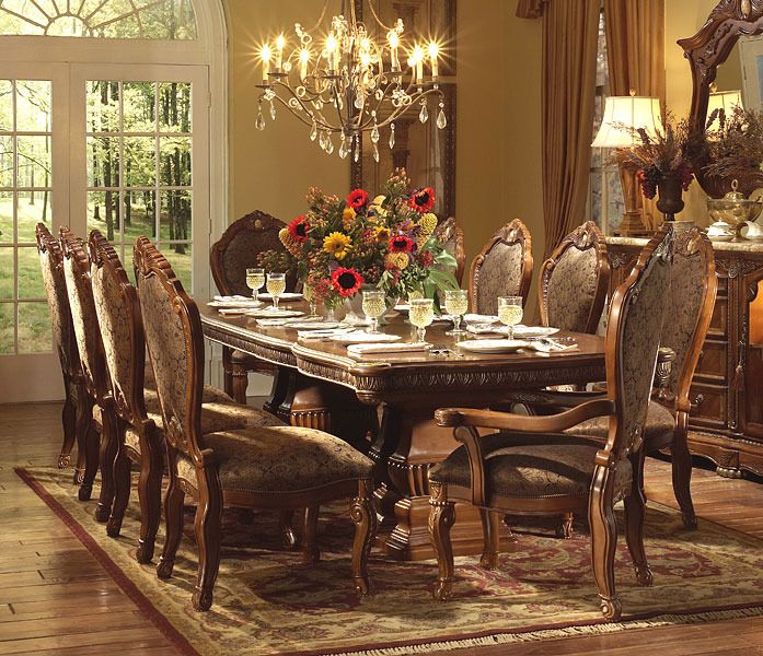 Cortina Rectangular Table Dining Room Set | Michael Amini / AICO Furniture  | Home Gallery Stores