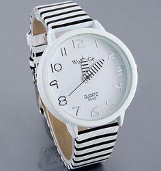 24f11c13136 Online Shop 2013 novo WaMaGe moda feminina cor Stripes Strap relógio de  pulso para mulheres nova