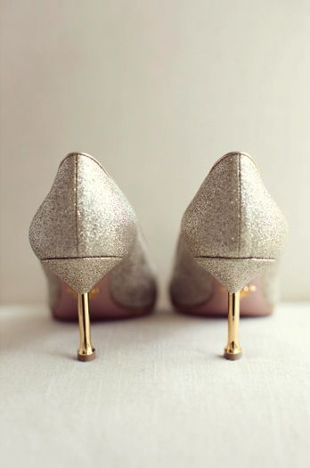 Pretty little gold kitten heels. Photo by Sarah Kate Photographer. www.wedsociety.com #wedding #shoes