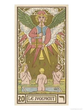 Judgment card from the Universal Waite Tarot Deck