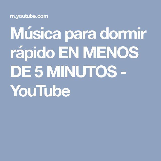 Música para dormir rápido EN MENOS DE 5 MINUTOS - YouTube