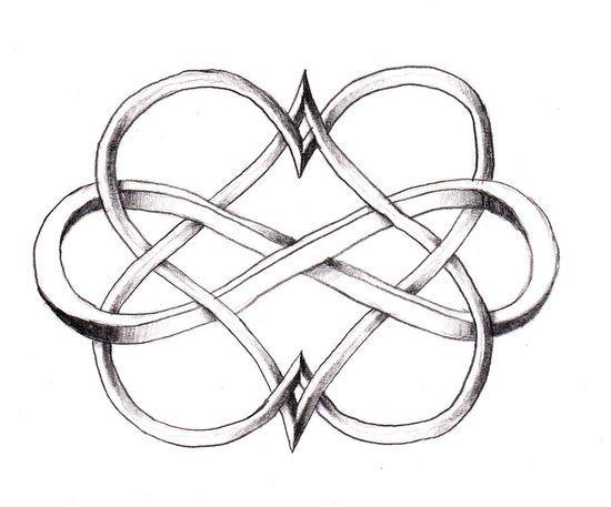 Infinity double heart