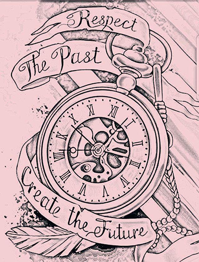 Uhr Tattoo Vorlage