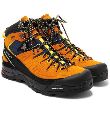 SALOMON X Alp GORE-TEX, Suede And Rubber Hiking Boot