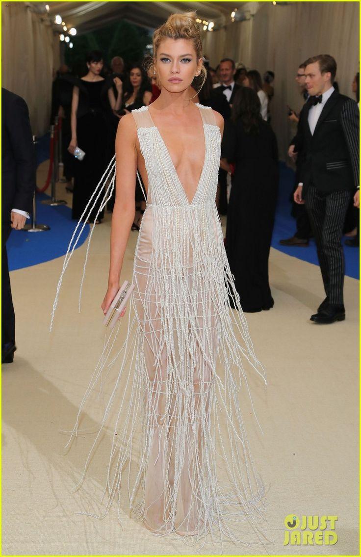 Ashley Graham & Stella Maxwell Get Glam at Met Gala 2017