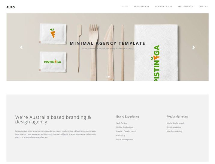 Auro is a simple, clean and minimalist business html template suitable for Agency, home business, portfolio and corporate sites. It's easy to customize and suitable to any kind of website.