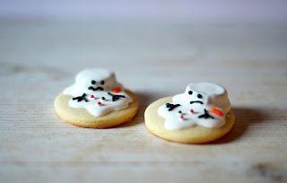 Christmas cookies, muñeco de nieve derretido, snowman