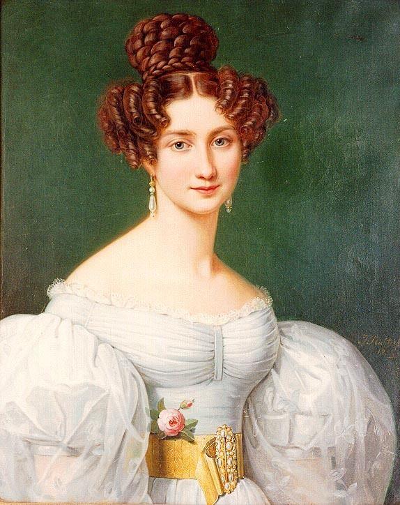 1826 Eugenie Hortense Auguste Napoleon de Beauharnais by Joseph Karl Stieler