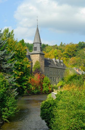 A church on the river in Houffalize.