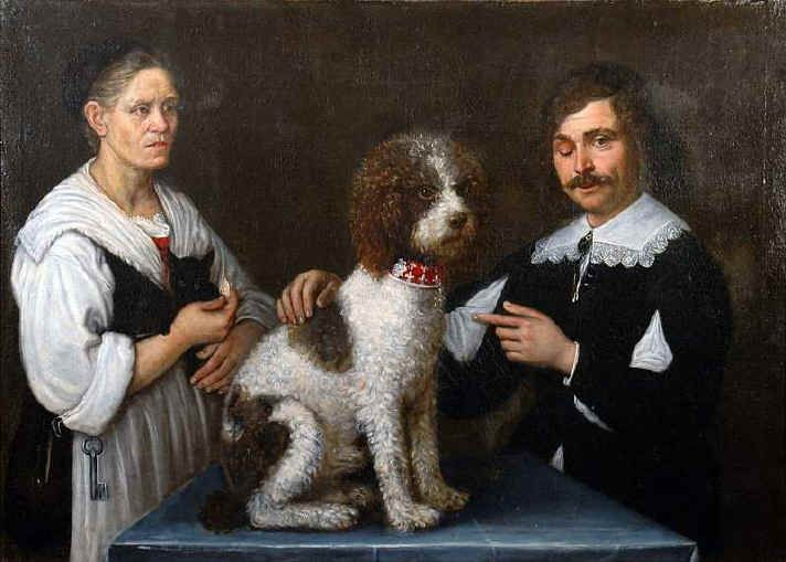Guercino - the squinter - and his might Lagotto dog, another hint at truffles as status symbol.