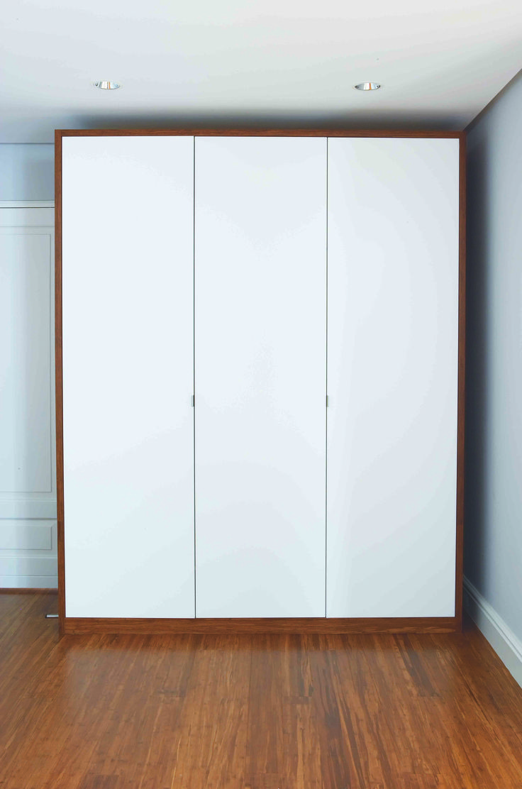 Walnut and satin duco wardrobe by ADK Cabinetworks
