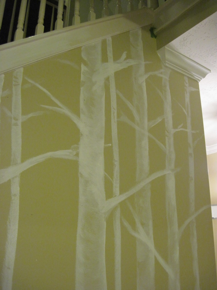 48 best wolf and birch images on pinterest birch birch for Diy birch tree mural