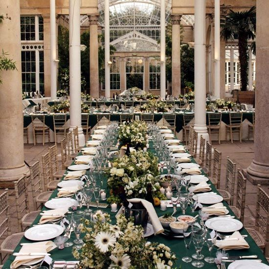 Ideas For Outdoor Wedding Reception Tables: Syon Park, Great Conservatory Using Inventive Table Plan