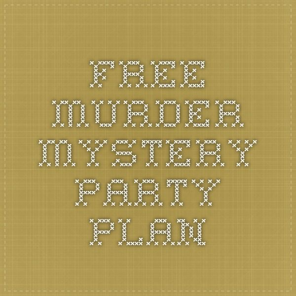 how to write a murder mystery game