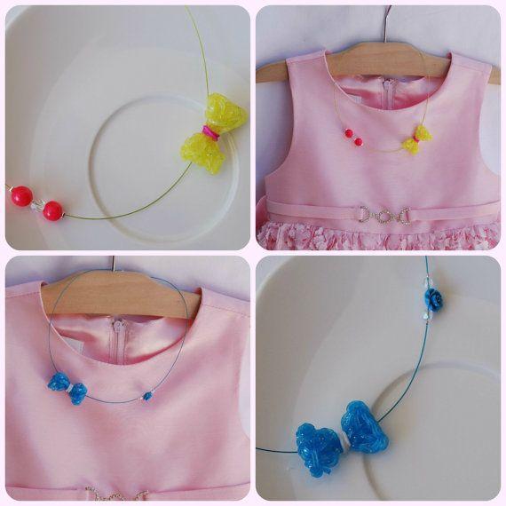 Rainbow loom necklace Flexi plexi jewelry by MeandMamaCreations