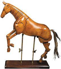 Pferde-Skulptur aus Holz