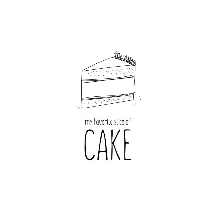 Cake sketch. Logo or illustration.