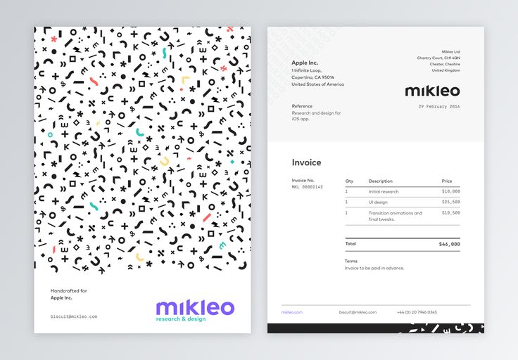 We hand pick the best clients and for that reason we felt the need to craft everything in-house, from wireframes,  UX flow, branding guidelines, to invoices and patterns.  ---- Handcrafted @Mikleo ...