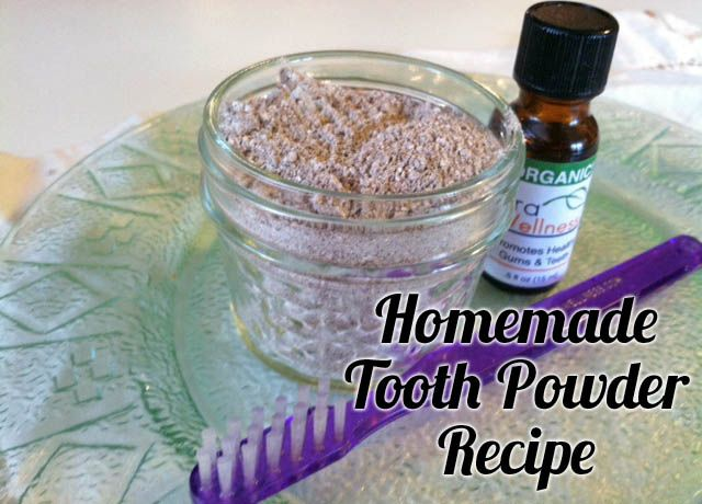 Homemade tooth powder that helps remineralize teeth, kill bacteria and cleans teeth naturally and inexpensively. Make your own!