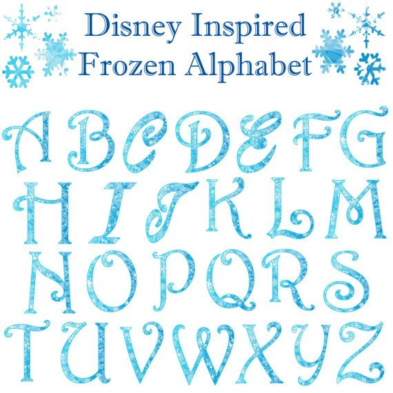 Disney Frozen Alphabet https://www.etsy.com/listing/203408573/disney-inspired-frozen-alphabet-clipart