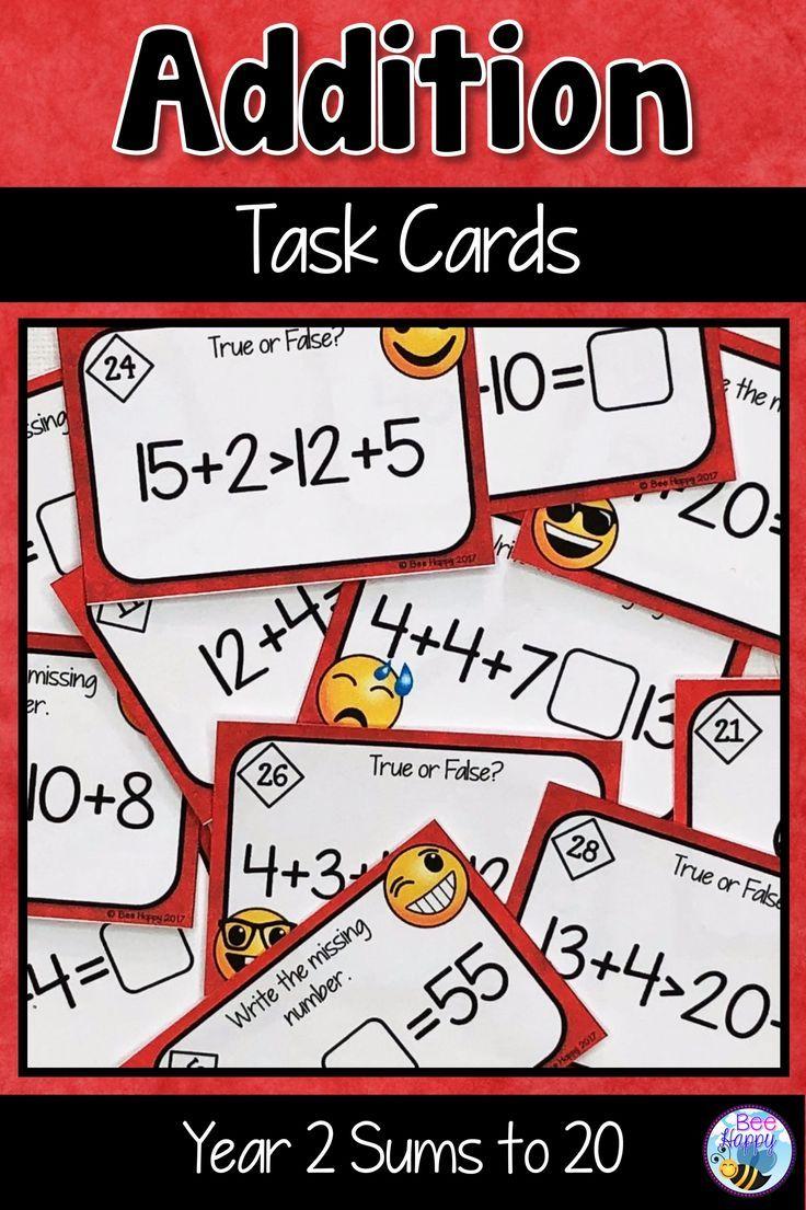 Addition Task Cards Australian Curriculum Year 2   Pinterest