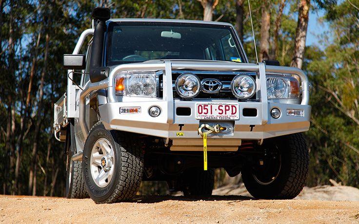 Toyota 70 Series V8 Landcruiser Outback Deluxe Bull Bar Steel | TJM Australia…