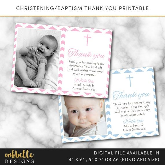 This listing is for a baptism christening thank you printable card. Digital File, PDF, DIY, baby thank you card, Boy Thank you card, Girl Thank you card, 4 x 6, 5 x 7, A6 invite card, digital invitation, thank you printable, Christening thank you, Baptism thank you, Digital File, PDF, DIY, 4 x 6, 5 x 7, baptism card, christening card, pdf, christening day  --DETAILS--  This listing is for a 4 x 6 inch, 5 x 7 inch or A6 (postcard size) digital invitation customized with your message. Please…