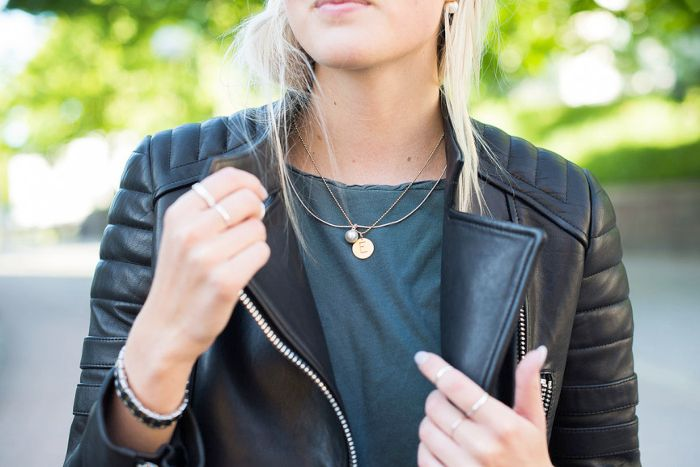 leather and tee | ellen claesson