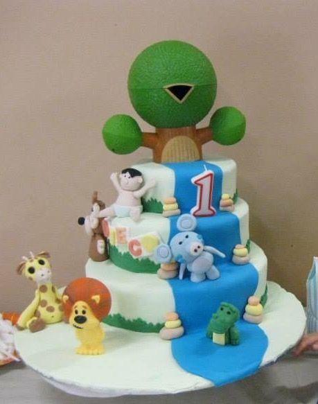 Rara the noisy lion Cake first birthday cake