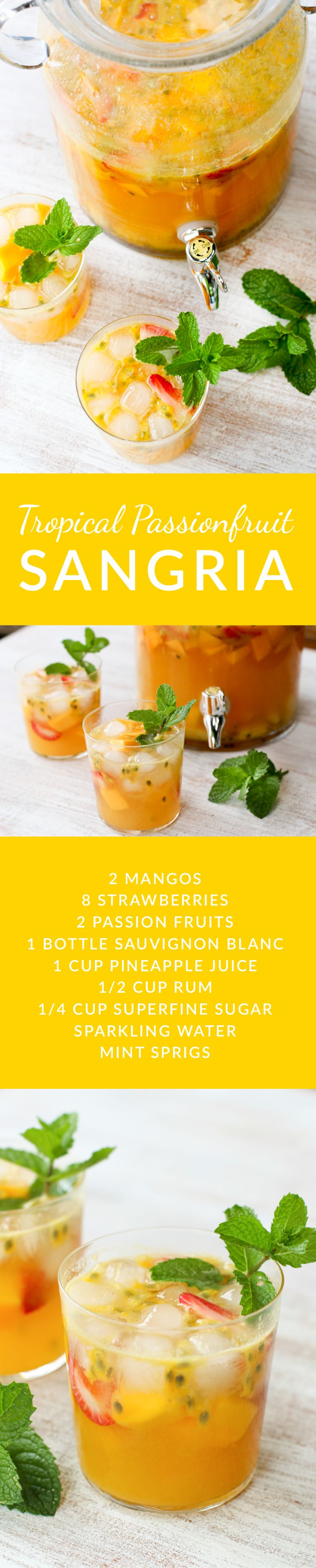 This light, but full-flavored sangria is reminiscent of the vacation of your dreams. Yes, it is that good. The perfect drink for a summer evening whether you are in Honolulu, Noosa, Mal Pais or your backyard.
