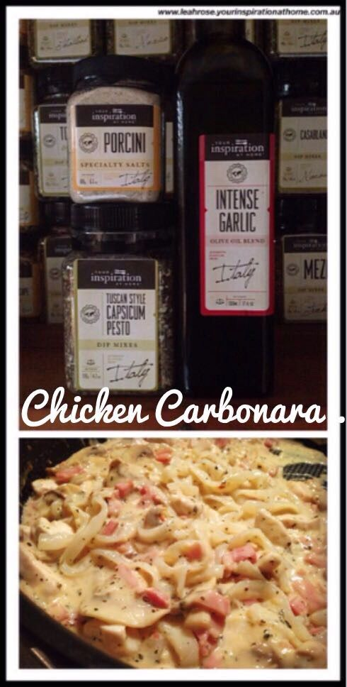 Chicken Carbonara….. OMG… YUM! | LJ's Gourmet Kitchen
