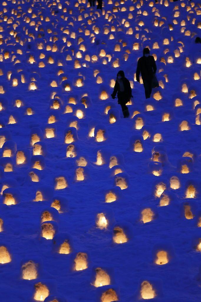 Yokote Snow Festival, Akita, Japan 横手のミニかまくら