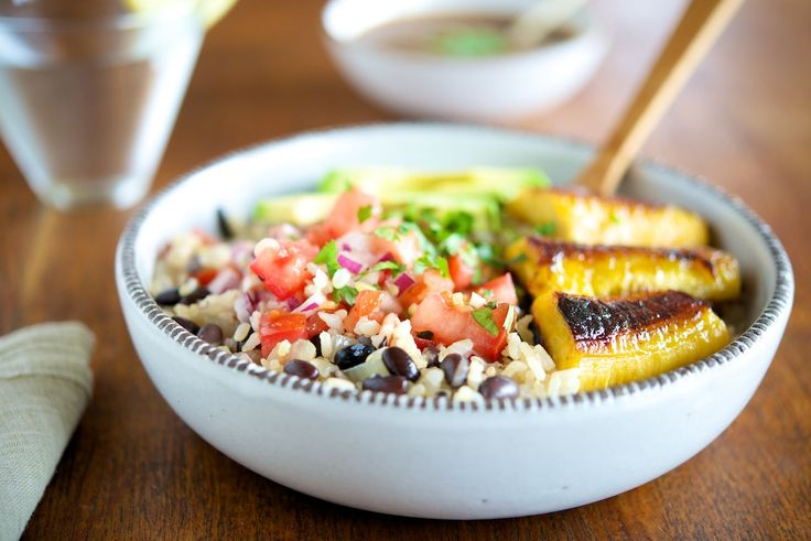 Gallo Pinto Beans & Rice with Sauteed Plantains, Tamarind Sauce and Tomato Salsa | Vanille Verte