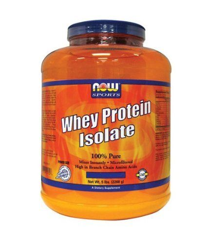 Whey Protein Isolate Cookies & Creme - 5 lbs - Powder by Now Foods. $64.89. Whey Protein Isolate CookiesAll Natural - No Aspartame, No Sucralose, No Acesulfame-KNOW Whey Protein Isolate is a high quality protein that is bioavailable, easily digested, and provides Branched Chain Amino Acids (BCAA's). These qualities make NOW Whey Protein Isolate ideal for active individuals.Whey protein is considered to have the highest Biological Value of any protein source superior in essentia...