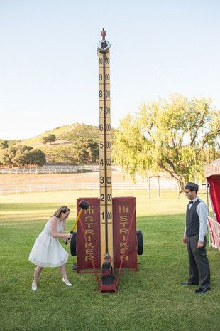 High striker! This classic carnival game would make a festive, fun addition to a vintage-themed wedding! {The Big Affair Photography}