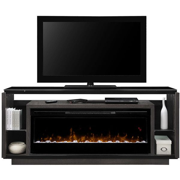 Fireplace TV Media Console David by Dimplex ($1,749) ❤ liked on Polyvore featuring home, furniture, storage & shelves, entertainment units, fireplace media console, dimplex, fireplace furniture, fireplace tv console and fireplace media cabinet