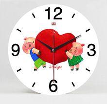 cheng qin nuova camera da letto soggiorno mute a colori da 12 pollici orologio in legno orologio da parete di nozze creativo della moda orologio blocco(China (Mainland))