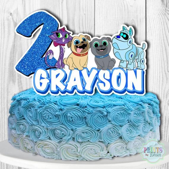 Puppy Dog Pals Cake Topper Puppy Dog Pals Cake Decorations Puppy