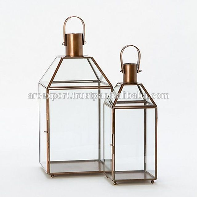 Look what I found Via Alibaba.com App: - wedding party glass metal copper shiny lanterns for sale