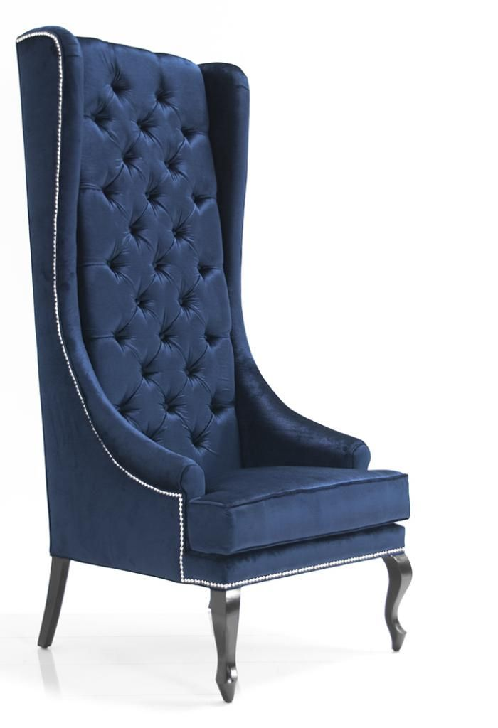 Lolita Tall Wing Chair    2 chairs in living room.... Hello high back!! I would prefer black.